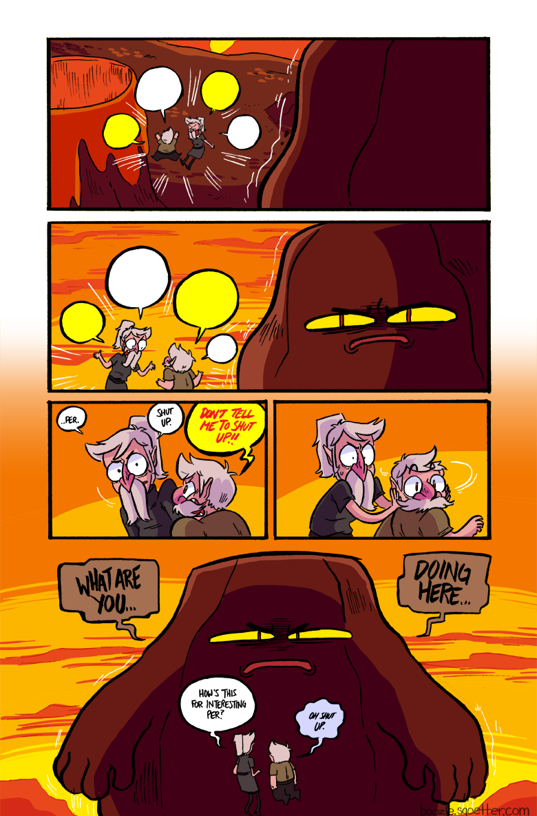 this is why siblings shouldn't fight, could wake up some nearby rock monster.