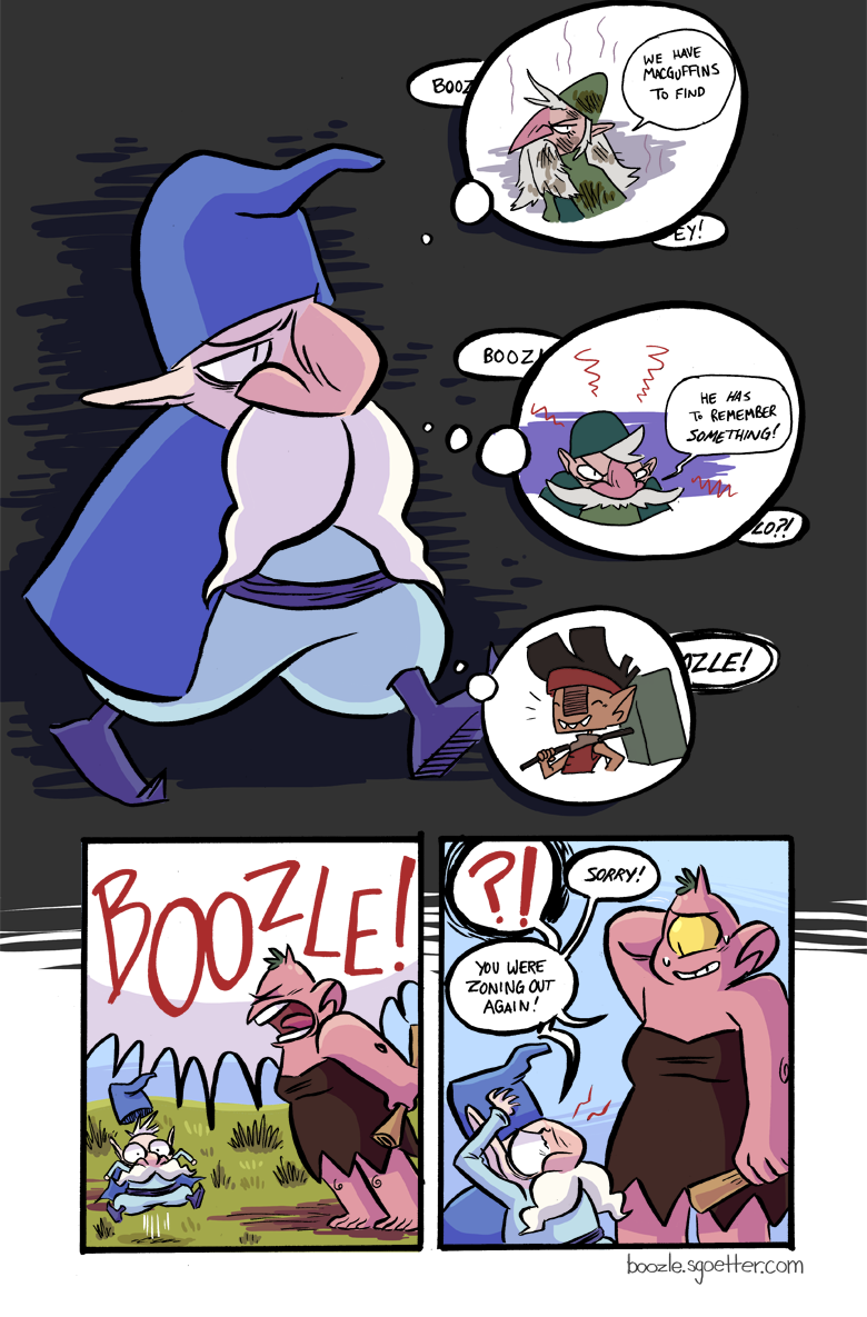 I will never not draw Boozle's hat popping off cartoonishly whenever I can. That's a promise.