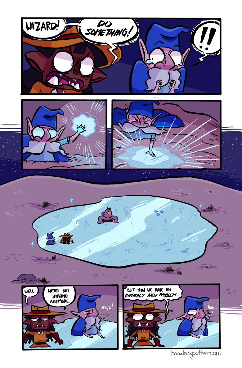 Boozle possibly casts more spells in this chapter than the rest of the comic combined.