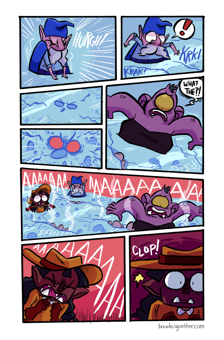 """""""Wow this is super not how quick sand works at all!!"""" WELL YOU KNOW IT'S A FANTASY COMIC SO....."""