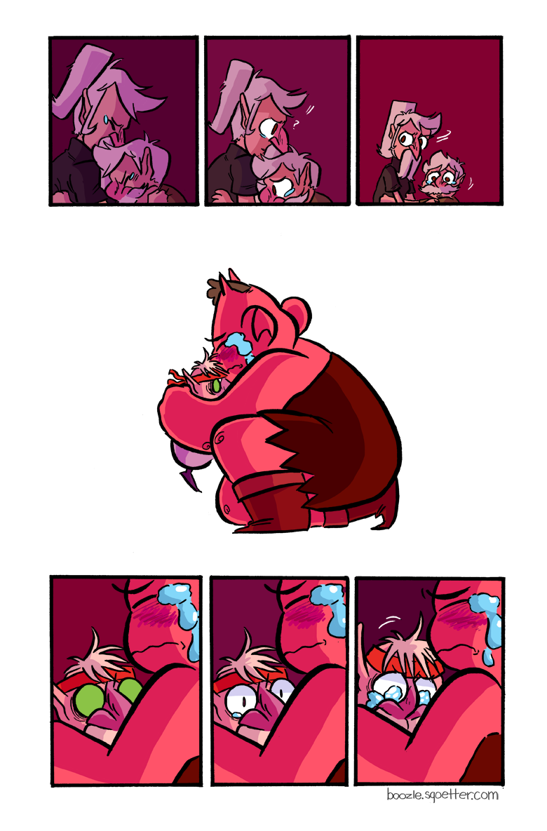 this a comic about hugging.